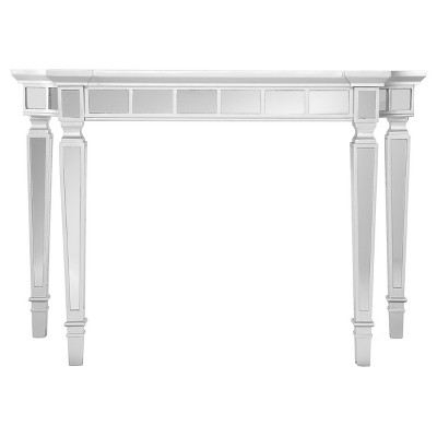 Glenrose Glam Mirrored Console Table - Matte Silver - Aiden Lane