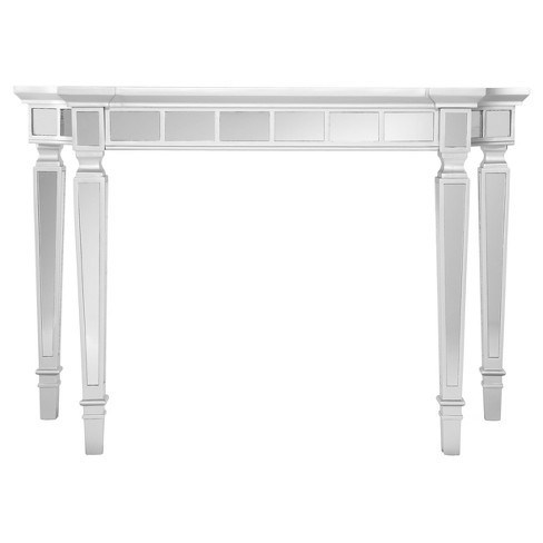 Glenrose Glam Mirrored Console Table - Matte Silver - Aiden Lane - image 1 of 9