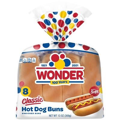 Wonder White Hot Dog Buns - 13oz/8ct