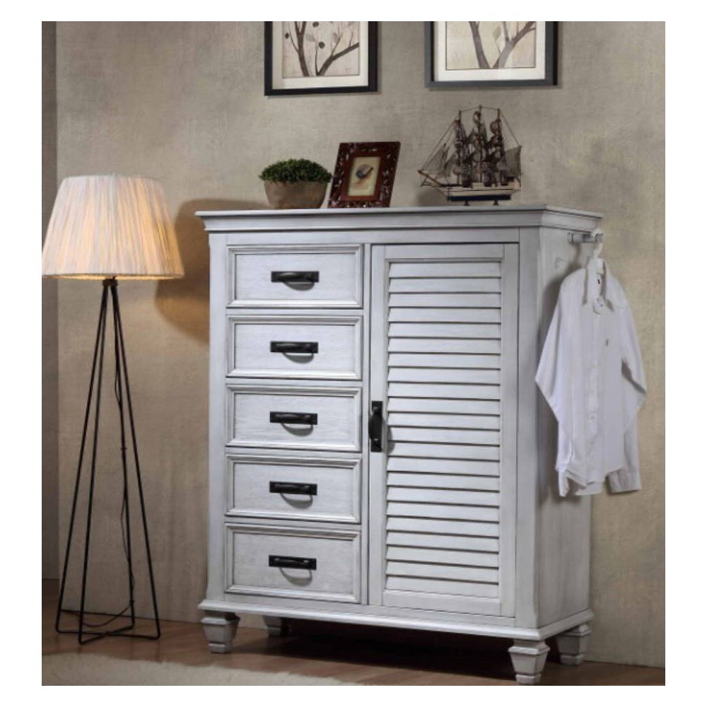 Image of Farmhouse Chateau Gentleman's Chest Antique White - Private Reserve