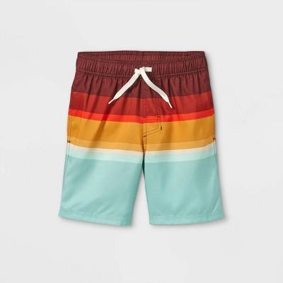 Boys' Colorblock Swim Shorts - Cat & Jack™ Red