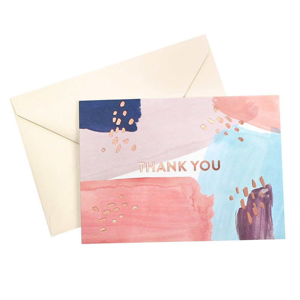 "Image of """"""Thank You"""" Paint Stripes Greeting Card - Greenroom"""