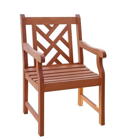 Vifah Outdoor Wooden Armchair - Brown - image 1 of 4
