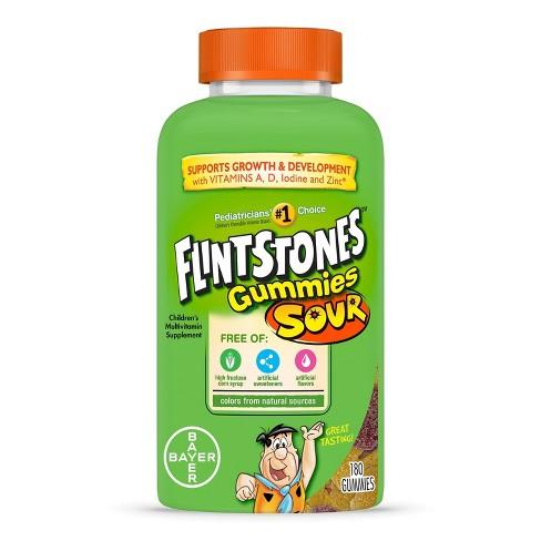 Flintstones Children's Complete Multivitamin Gummies - Sour - 180ct - image 1 of 4