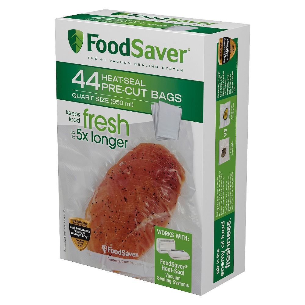 FoodSaver 44ct 1qt Heat-Seal Bags, Clear 15093033