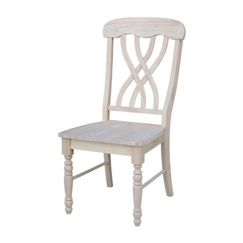 Set of 2 Lattice Side Chair Unfinished - International Concepts - image 1 of 8