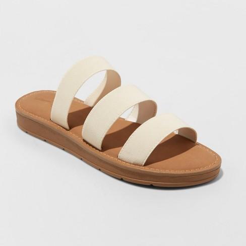 Women's Eden Three Strap Elastic Slide Sandals - Universal Thread™ - image 1 of 3