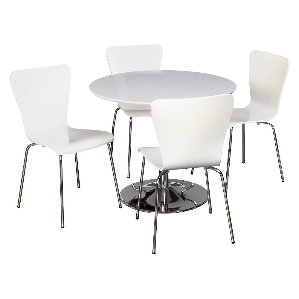 Hillsboro Dining Set White 5 Piece - Tms
