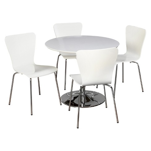 Hillsboro Dining Set White 5 Piece - TMS - image 1 of 2