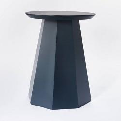 Daffan Faceted Round Accent Table - Threshold™ designed with Studio McGee