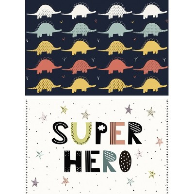 Dinosaurs and Superhero Placement Set of 2 - A & A Story