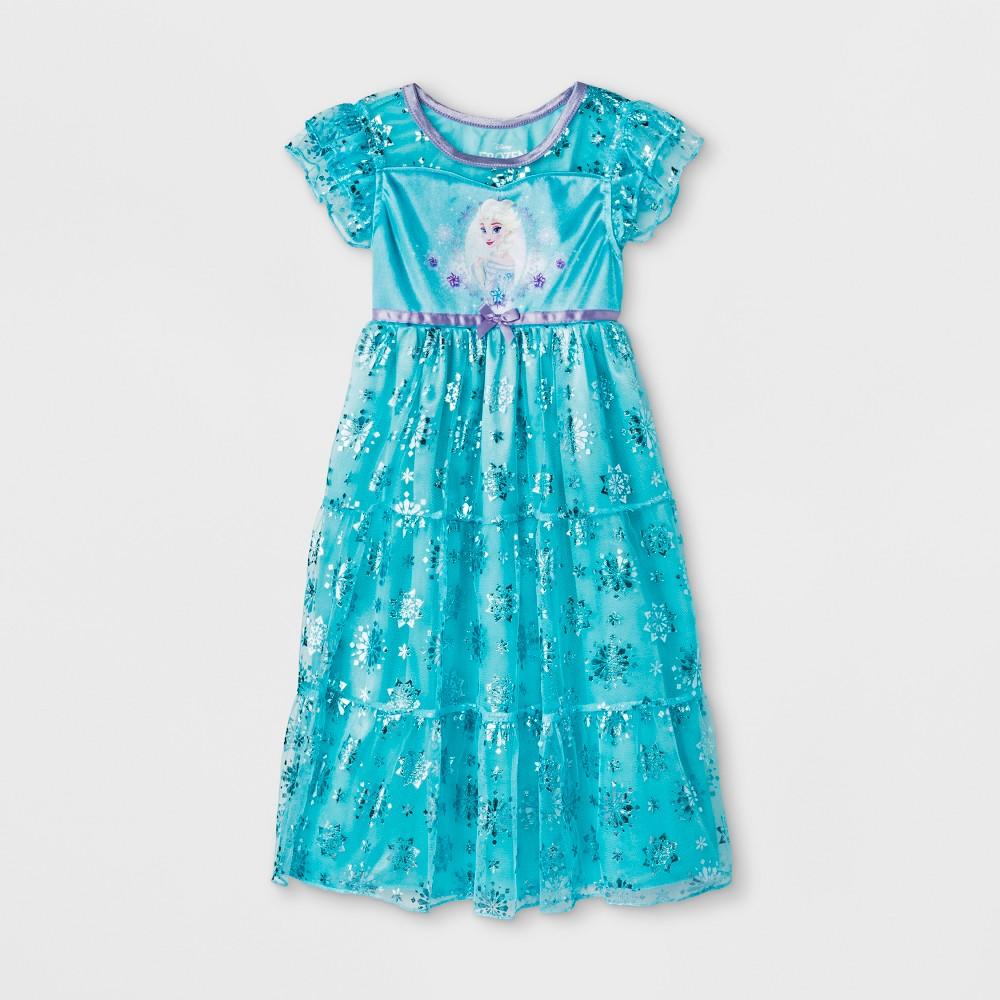 Toddler Girls' Frozen Fantasy Nightgown - Blue 4T