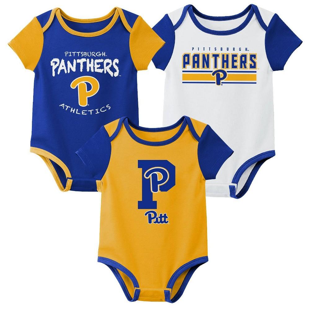 Ncaa Pitt Panthers Baby Boys 39 3pk Bodysuit Set 12m