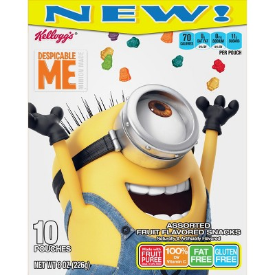 kellogg s despicable me assorted fruit flavored snacks 10ct target