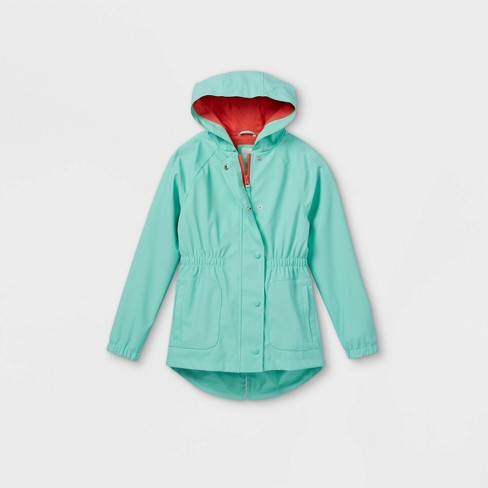 Girls' Solid Rain Jacket - Cat & Jack™ - image 1 of 2