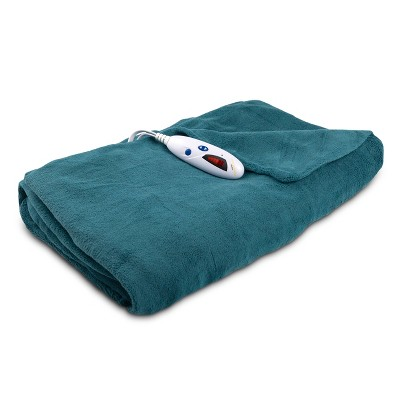 Microplush Electric Throw (62 x50 )Blue - Biddeford Blankets