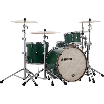 Sonor SONOR SQ1 3-Piece Shell Pack with 24 in. Bass Drum Roadster Green
