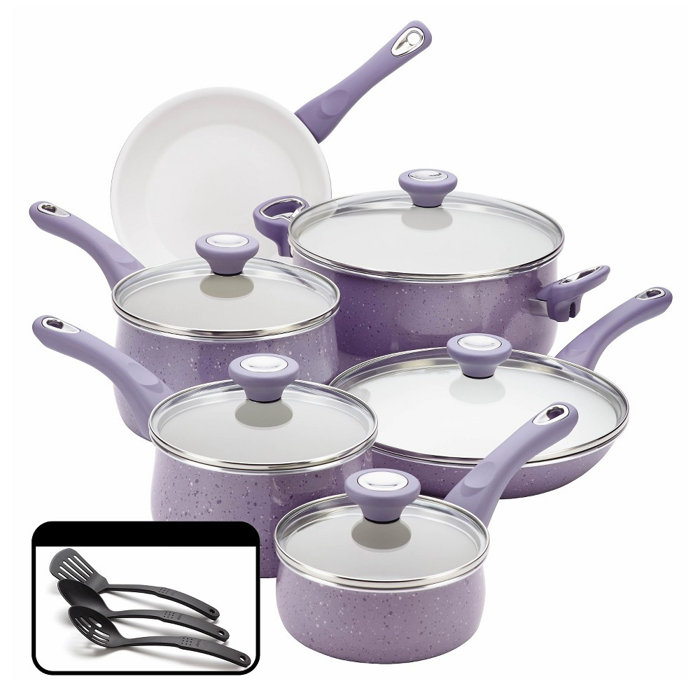 Image of Farberware Non-Stick 14Pc Cookware Set, Lavendar