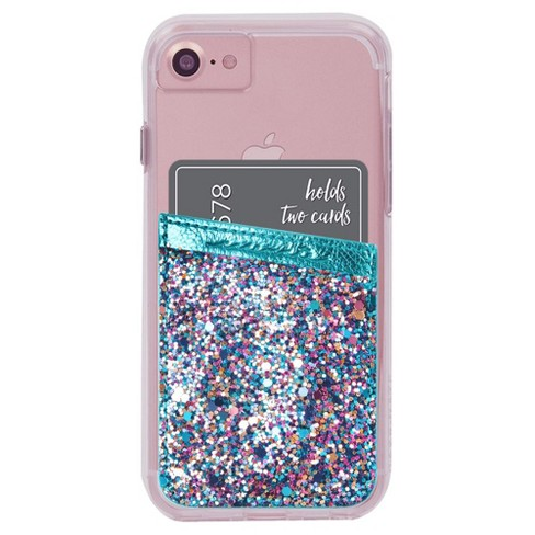 Case-Mate Turquoise Glitter Pockets - image 1 of 3