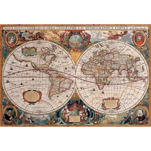 Antique World Map Puzzle.Eurographics Antique World Map 2000pc Puzzle Target
