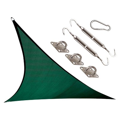 Coolhaven Shade Sail Kit - Heritage Green - Triangle 12' - Coolaroo