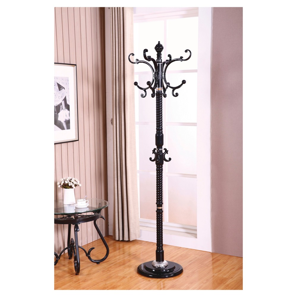 Image of Metal Coat Stand - Black - Home Source Industries