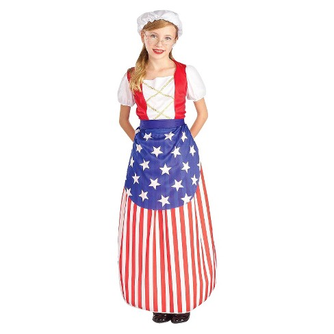 Girls' Betsy Ross Heroes History Costume - image 1 of 1