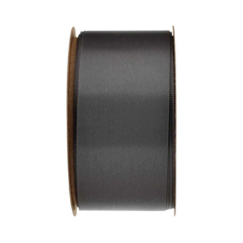 Image of 1.5 Pewter Satin Ribbon - Spritz , Gray