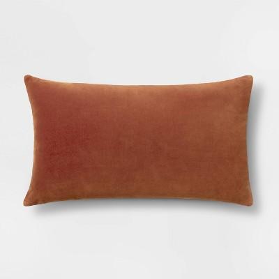 Velvet Lumbar Pillow Brown - Threshold™