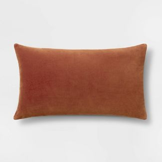 Velvet Lumbar Pillow Brown - Threshold™