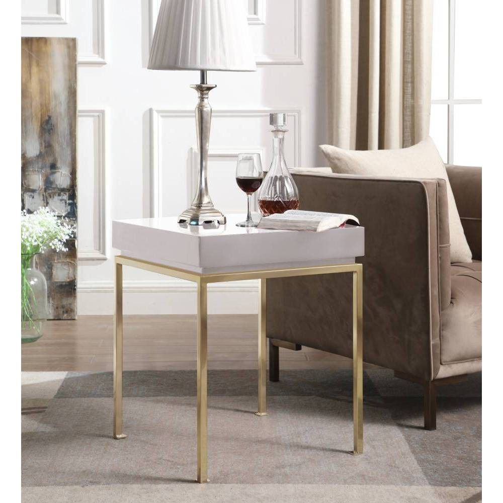 Sabrina Side Table Beige - Chic Home Design was $329.99 now $197.99 (40.0% off)