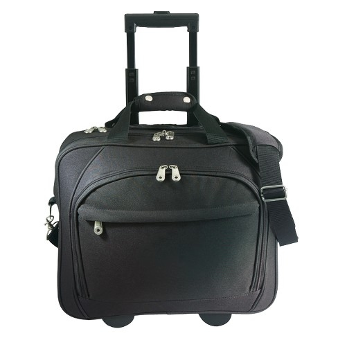 G. Pacific Business Rolling Laptop Briefcase with Laptop Holder - Black - image 1 of 4