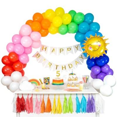 104pc Rainbow Balloon Garland Arch Complete Kit