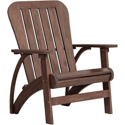 "Teal Island Designs Dylan 28 1/2"" Wide Acacia Dark Wood Outdoor Adirondack Chair"