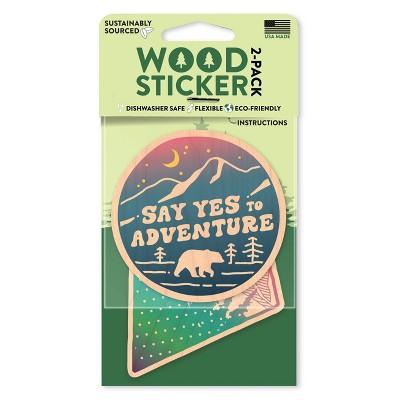 Dust City Wood Stickers Adventure and Rainbow Mountain Scene Stickers 2pk