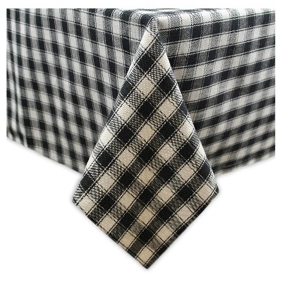 84 x60  French Check Tablecloth Black - Design Imports