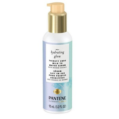 Pantene Hydrating Glow with Baobab Essence Thirsty Ends Milk to Water Hair Serum - 3.2 fl oz