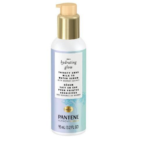 Pantene Hydrating Glow with Baobab Essence Thirsty Ends Milk to Water Hair Serum - 3.2 fl oz - image 1 of 4