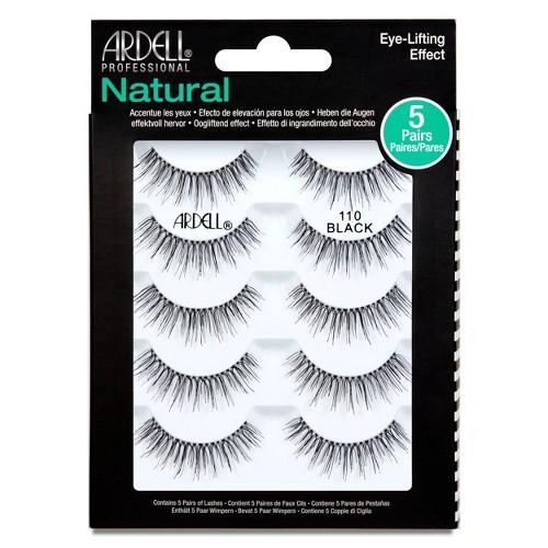 Ardell Professional Natural 110 Eyelash Multipack Black - 5ct