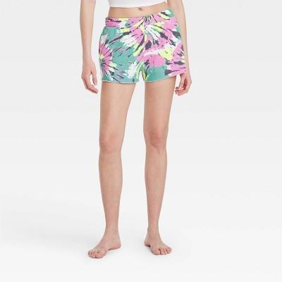 Women's Tie-Dye Fleece Lounge Shorts - Colsie™ Pink