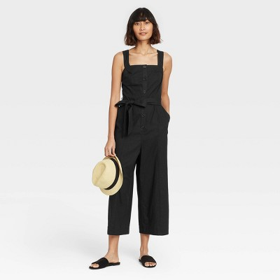 Women's Sleeveless Button-Front Jumpsuit - A New Day™