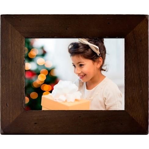 Polaroid 8 Digital Photo Frame Candlenut Distressed Wood Frame