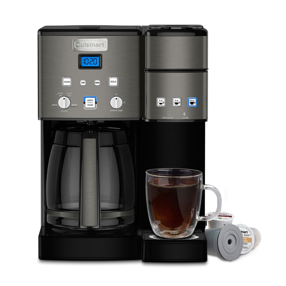 Image of Cuisinart Combo 12 Cup and Single-Serve Coffee Maker Ss-15 Black Stainless