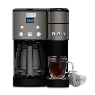 9823caa555d3 Cuisinart Combo 12 Cup and Single Serve Coffee Maker - Ss-15 - Black  Stainless