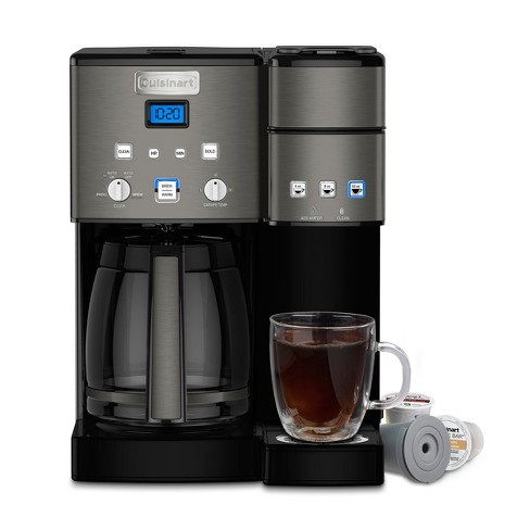 Cuisinart Combo 12 Cup And Single Serve Coffee Maker Ss 15 Black