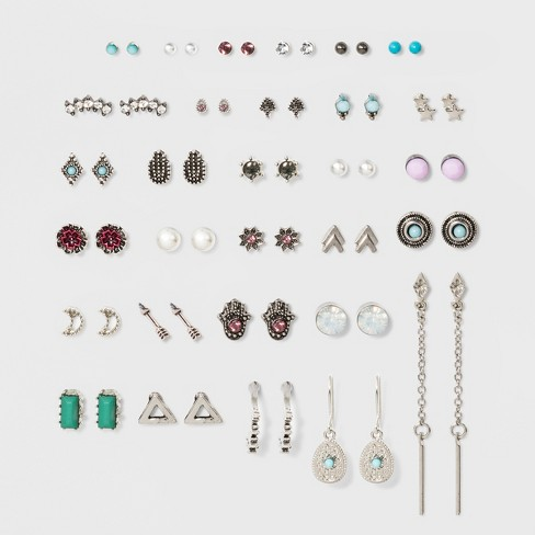 Simulated Pearl, Drops, Studs Multi Earrings 30ct - Wild Fable™ - image 1 of 2
