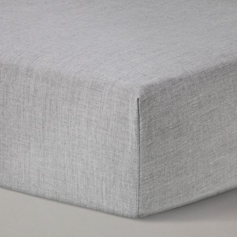 Fitted Crib Sheet Solid - Cloud Island™ Gray - image 1 of 2