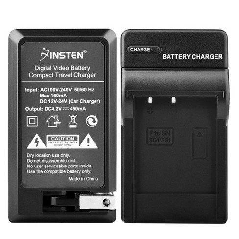 INSTEN Compact Battery Charger Set compatible with Sony NP-BG1 - image 1 of 4