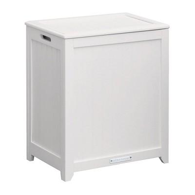 Oceanstar Rectangular Laundry Wood Hamper with Interior Bag
