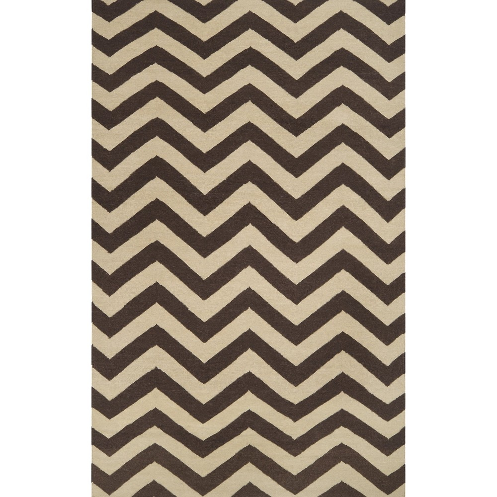 Chevron Flat Weave Area Rug - Brown (5'x8')